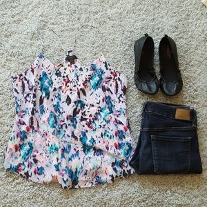 [J. Crew] Silk Watercolor Floral 'Carrie' Cami